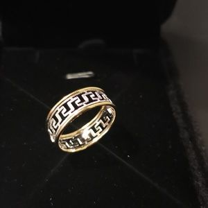 18karat Two-Tone Gold Size 7.5